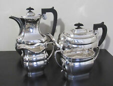 J B Chatterley And Sons Ltd STERLING SILVER TEA SET 4PCS 1940 BIRMINGHAM
