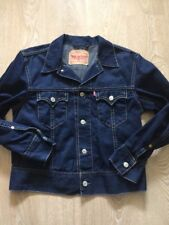 Para Hombre Levis Denim Jeans Azul Chaqueta Abrigo Talla XL LEVI STRAUSS red tab Raro