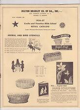 1956-57 Milton Bradley Co of Ga. retail Catalog  Crafts & Vacation Bible School