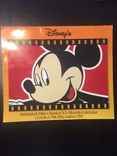 Disney 1998 1999 Animated Film Classics 15 Month Calendar - Vintage Mickey