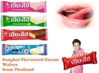 Sanghai Chocolate,Strawberry,Vanilla,Milk Flavoured Cream Wafers from Thailand