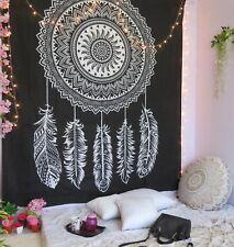 Tapestry Wall Hanging Black White Mandala Indian Dream Catcher Decor Cotton Boho