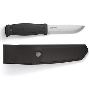 Mora Knives Garberg Knife Plain Edge Black Handle Leather Sheath 12635