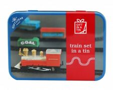 Train Set in a Tin - train, carriages & track in handy tin. Battery operated