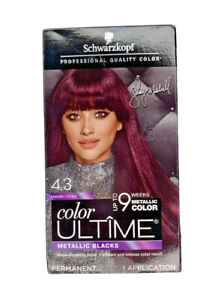 Schwarzkopf Color Ultime Permanent Hair Color 4.3 Metallic Violet Shay Mitchell