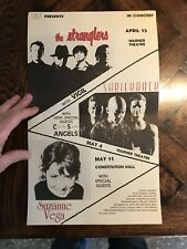 Vintage 80's Shriekback The Stranglers Suzanne Vega Concert Poster music