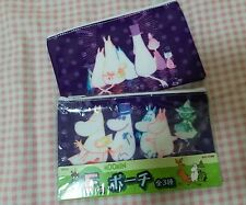 Taito Moomin Valley Characters Purple 2 Faces PVC Zipper Case 1