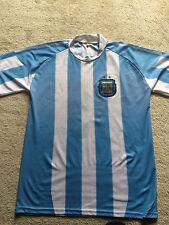 Men's Argentina Afa Soccer Short Sleeve Jersey Size Large - Camila 15