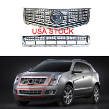 Chrome Set Front Bumper Grille-Upper Lower Grille For Cadillac Srx 2013-2015 (Fits: Cadillac)