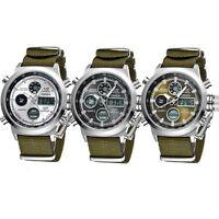 Luxury MILITARY Mens Tactical Sport Army Quartz Digital Analog Wrist Watch Nylon