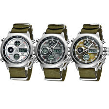 Luxury MILITARY Mens Tactical Sport Army Quartz Digital Analog Wrist Watch Nylon