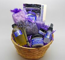 Lavender Gift Basket-Free Same Day Shipping- MASSAGE OIL OPTION--Home Care Size