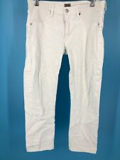 Citizens Of Humanity Womens Jeans Size 30 White Phoebe Slim Straight Crop (I1)
