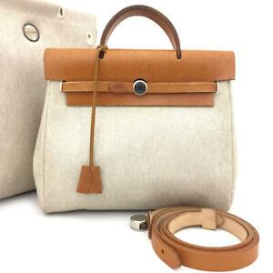 100% Authentic Hermes Yale Bag Ad Backpack 2in1 Brown Beige/60212