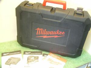 Milwaukee Carry/Storage Case +Full Manual Set For M18 BJS-402C Cordless Jig Saw