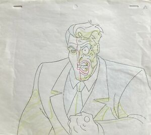 BRUCE TIMM rare TWO FACE Original Production Drawing ALMOST GOT 'IM BTAS WB COA