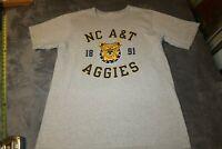 Vintage CHAMPION NC A&T Aggies SINGLE STITCH T-SHIRT Size XL NICE SHAPE