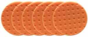 """6 PK Lake Country orange foam light cutting CCS Foam Pads DA 5.5"""""""