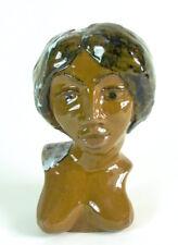 skurrile Keramik Büste - Halbakt 1930/40 - vom Binzer Strand