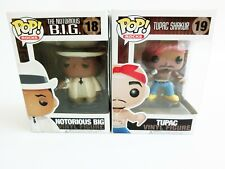 Funko Pop Rocks #18 Notorious Big B.I.G #19 Tupac Shakur Vinyl Figure F/S Japan