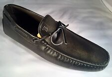 550$ Tod's Dark Gray Gommini Drivers Size US 8 Made In Italy