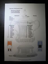 1947-48 FA Cup 4th Round Blackpool v Chester matchsheet