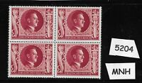 #5204  MNH Hitler block / PF12 + PF38 1943 Birthday / WWII Germany / Third Reich
