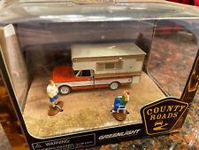 Greenlight Country Roads Diorama 1972 Chevy C-10 Camper, Rare