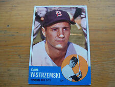1963 TOPPS BASEBALL CARL YASTRZEMSKI CARD # 115 EXMT CONDITION