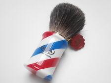 TOP Rasierpinsel OMEGA Dachs Dark badger Rein Dachs Shaving brush Barber Pole !!