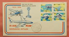 1959 NETHERLANDS ANTILLES FDC 25TH ANNIV KLM AIRMAIL 80398