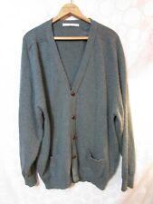 Vintage LYLE & SCOTT Men's XL Gray Wool Button Cardigan Sweater Made in Scotland