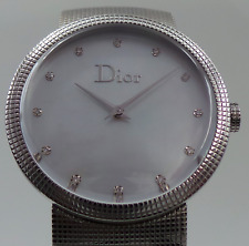 Dior La D de Dior CD042110 Stainless Steel Mother Of Pearl w/ Diamonds