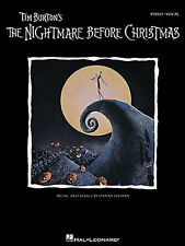 Tim Burton The Nightmare Before Christmas Learn PIANO Guitar PVG Music Book