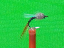 Johnny Flash  Midge Emerger Fly (sz.16  Black with Flash Wing) HOT PATTERN