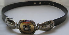 EA ITALY MOD DEP WOMEN'S SNAKE DESIGN BELT WITH SILVER AND GOLD BUCKLE