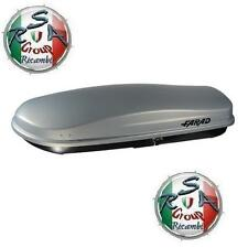 BOX AUTO FARAD ZEUS N16 480LT GRIGIO GOFFRATO- BAULE PORTABAGAGLI TETTO