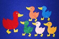 """""""5 Little Ducklings"""" felt/ flannel board children story set"""
