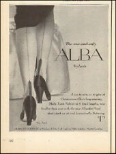1950's Vintage ad for ALBA Stockings`Retro Fashion Sexy legs Shoes (101117)