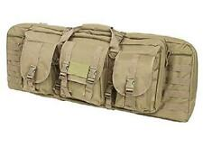 "36"" Double Rifle Bag AR15 AK Tactical Padded Hunting Dual Rifle Range Case Tan."