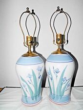 LAMPS A PAIR OF HAND CRAFTED SHAVING HILL POTTERY 3-WAY GINGER JAR TABLE LAMPS