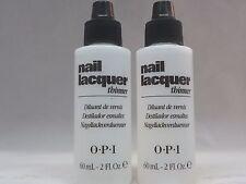 OPI - LOT OF 2 - NAIL LACQUER THINNER - 2.0 OZ. - NEW NO BOX