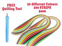 5mm DIY 200 Quilling Paper Strips Craft Quality *UK SELLER* Craft DIY decor kit