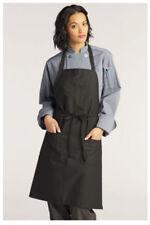 "Bib Apron, 2 Pockets, Pencil Pocket, Color: Black, Size: 30"" W x 34"" L - 3004"