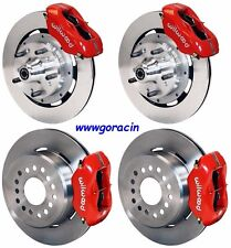 "WILWOOD DISC BRAKE KIT,1959-1964 IMPALA,BEL AIR,BISCAYNE,12"" ROTORS,RED CALIPERS"