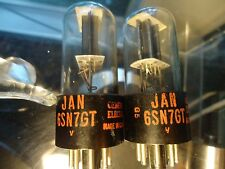 GENERAL ELECTRIC 6SN7GT TV-7 TESTED STRONG BLACK PLATE VINTAGE VALVES TUBES