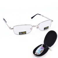 Gafas de lectura metal Snap plegable con case +1.0 +1.5 +2.0 +2.5 +3.0 +*ws