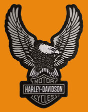 HARLEY DAVIDSON SILVER UP WING EAGLE REFLECTIVE 8 INCH PATCH