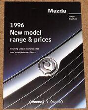 1996 MAZDA RANGE Brochure & Prices - MX5 MX3 MX6 323F 626 121 Xedos B2200 E2000