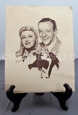 "Ginger Rogers & Fred Astaire 10""x13"" B&W Sketch Print B. Morgen 1976 Apple Arts"